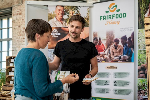 Messstand Fairfood Freiburg